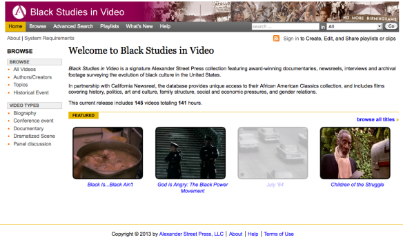 Black Studies in Video